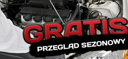 Przegląd sezonowy samochodu GRATIS